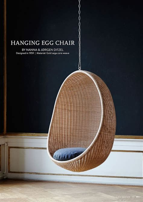 sika design hanging egg chair by nanna ditzel