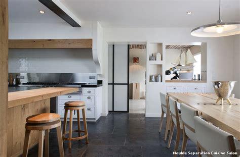 cuisine salon salle à manger meuble separation cuisine salon with montagne salle à