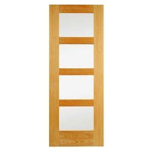 Wickes Bookcase by Wickes Marlow Oak Veneer Door Clear Glazed 4