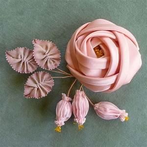 Antique Silk Satin Ribbon Rose | Vintage Passementerie ...