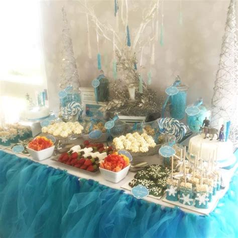 frozen themed kids party candy buffet candy buffets