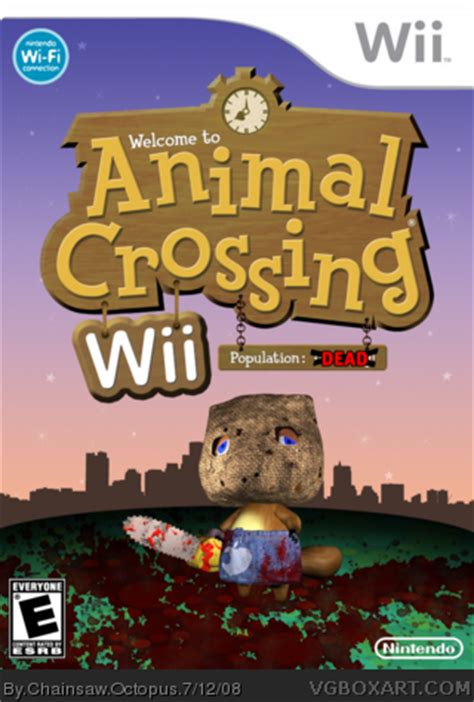 animal crossing wii box art cover  chainsaw octopus