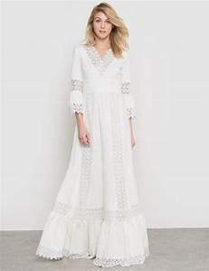 robe blanche dentelle style boheme la mode des robes de With robe longue dentelle boheme