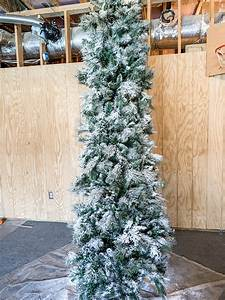 Diy Flocked Christmas Tree Instructions  A Step By Step