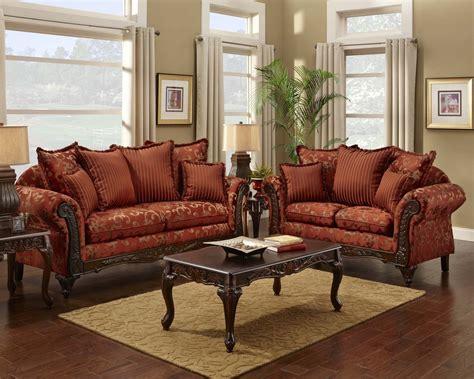 red floral print sofa  loveseat traditional sofa set
