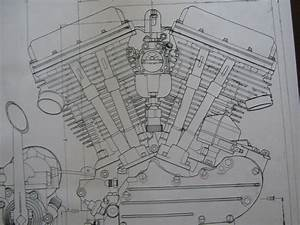Details About 2 Harley Davidson Panhead Engine Blueprint
