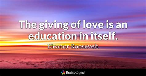 giving  love   education   eleanor
