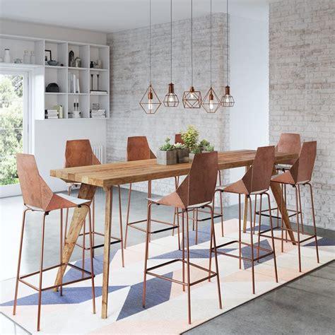 modern mid century kitchen island high bench table  desk