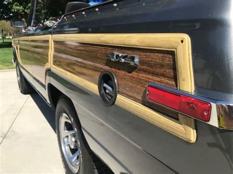 jeep grand wagoneer convertible runs drives great real head turner classic jeep