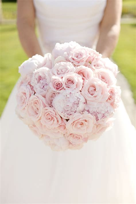 unique domed hand tied bouquet  light pink sweet