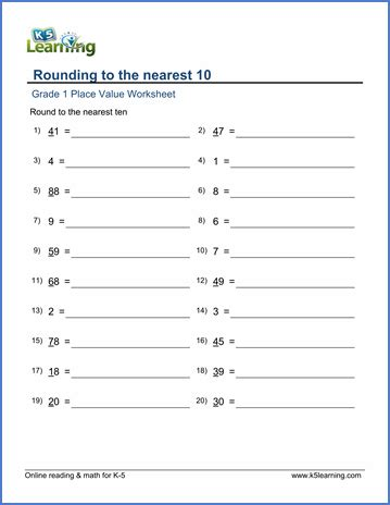 Rounding To Nearest 10 Worksheet Free Worksheets Library  Download And Print Worksheets Free