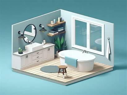 3d Interior Animation Bathroom Design4users Guillaume Illustration