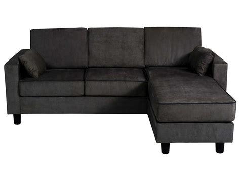 canape angle conforama canapé d 39 angle réversible 3 places en tissu logan coloris noir vente de canapé d 39 angle conforama