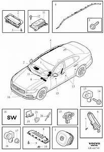 2017 Volvo S90 Airbag Module  Restraint  System  Suppl