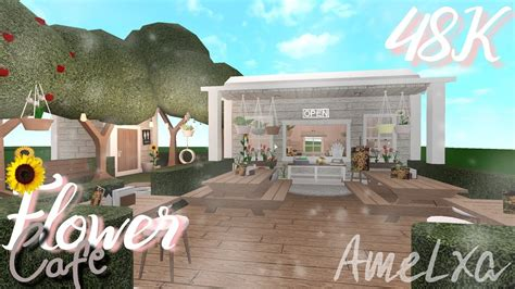 Can't stop making these type of builds. Flower Cafe  Roblox Bloxburg - YouTube