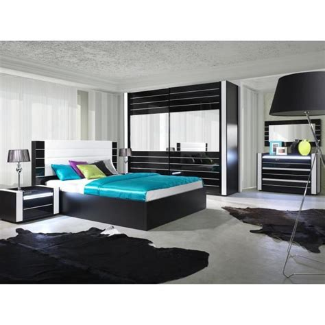 led pour chambre ensemble design pour chambre à coucher lina noir lit 2