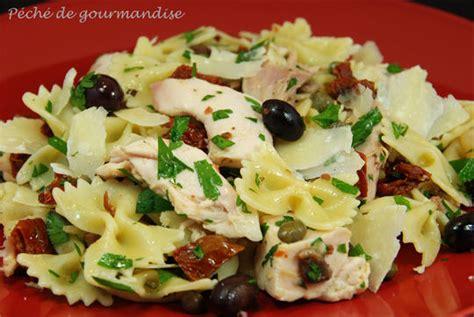 salade de tagliatelles aux jambons sauce aux anchois