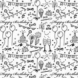 Birthday Paper Printable Coloring Happy Stickers Geschenkpapier Planner Wrapping Pattern Printables Doodle Papers Scrapbook Gift Ausdruckbares Scrapbooking Journal Bullet Digital sketch template