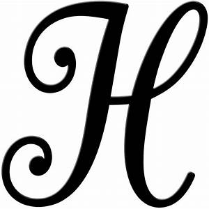 fancy cursive letter h letters example With fancy initial letters
