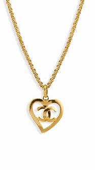 Chanel Vintage Heart Shape CC Logo Cut Out Pendant Rolo ...