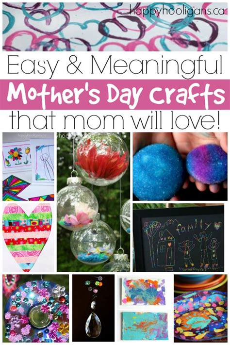 easy mothers day crafts  kids   happy