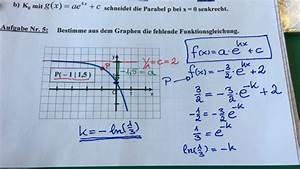 Aus Graphen Die Funktionsgleichung Bestimmen   F X    A   E  K X    C