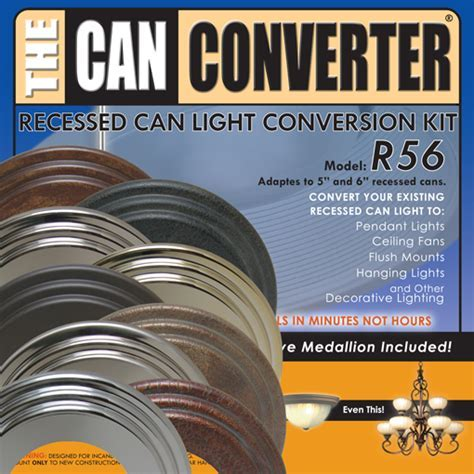 5 and 6 Inch Can Light Conversion Kit with Designer Medallion