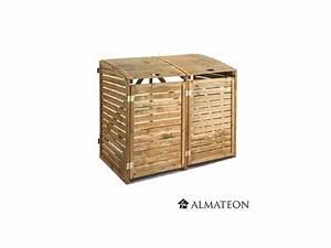 Cache Poubelle Brico Depot : cache poubelle double en bois almateon ~ Dailycaller-alerts.com Idées de Décoration