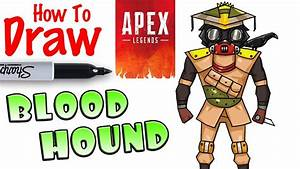 How To Draw Bloodhound
