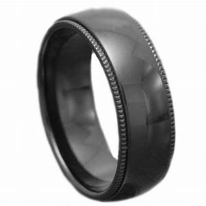 his hers 4 pcs black stainless steel wedding engagement With black stainless steel wedding rings