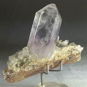Gorgeous Clear Brandburg Quartz With Amethyst On Crystal ...