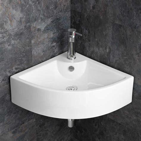 large corner sink bathroom basin cm wide wall hung