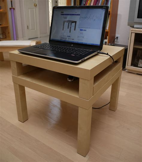 lack sofa table as desk pruss s laptop desk made from two