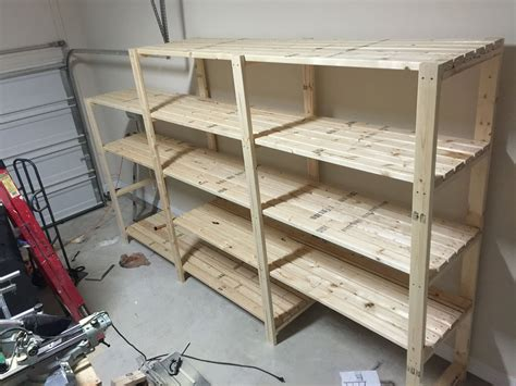 Garage Shelving Projects by Garage Shelving Diy From 2x4s Do It Yourself Home