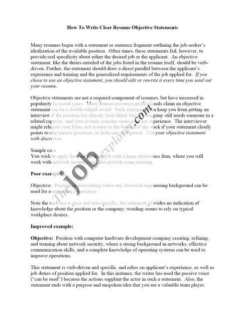 job objectives on a resumes why resume objective is important