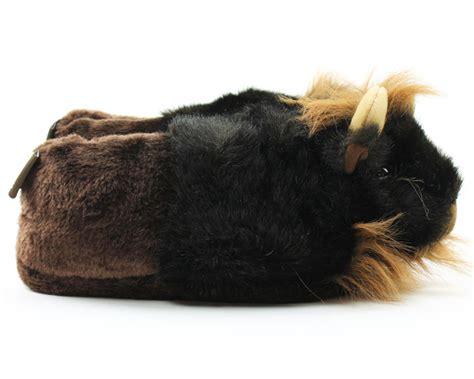 buffalo slippers bison slippers prairie animal slippers