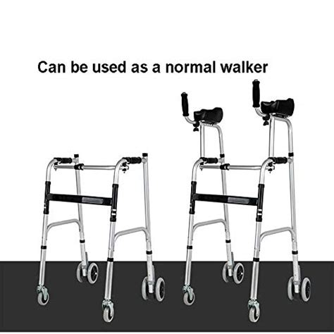 walker walkers elderly standard walking adjustable arm rest wheels seats fourwheels disabled assist mobility foldable equipped pad limited