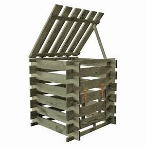 Acheter Palette Bois Castorama : composteur bois 290l castorama ~ Dailycaller-alerts.com Idées de Décoration
