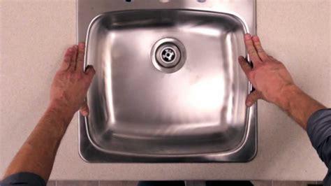 rona comment poser  evier de cuisine youtube