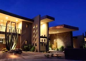 Beautiful, Modern, House, In, Desert