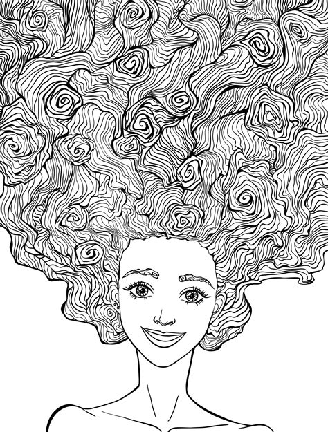 Coloring Books For Adults by 10 Hair Coloring Pages Coloring Pages To