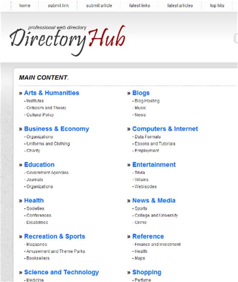 directory template php link directory template archive list of templates for version4 2