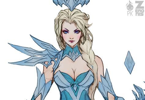 Elsa Dark Ice Queen Pt  Cropped Wip By Zeronis On Deviantart
