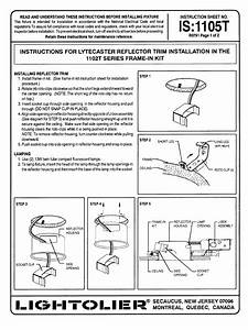 Lightolier Recessed Lighting Installation Instructions