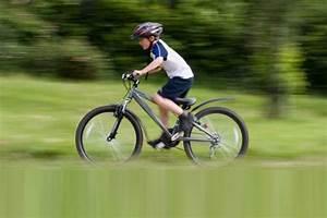 Kid Riding Bike To School