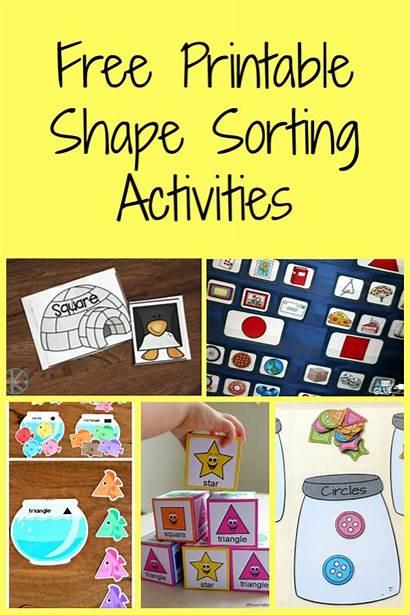 Sorting Activities Shape Activity Mom Printable Preschool
