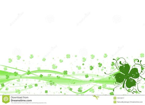 Good Luck/st Patrick's Border Stock Illustration