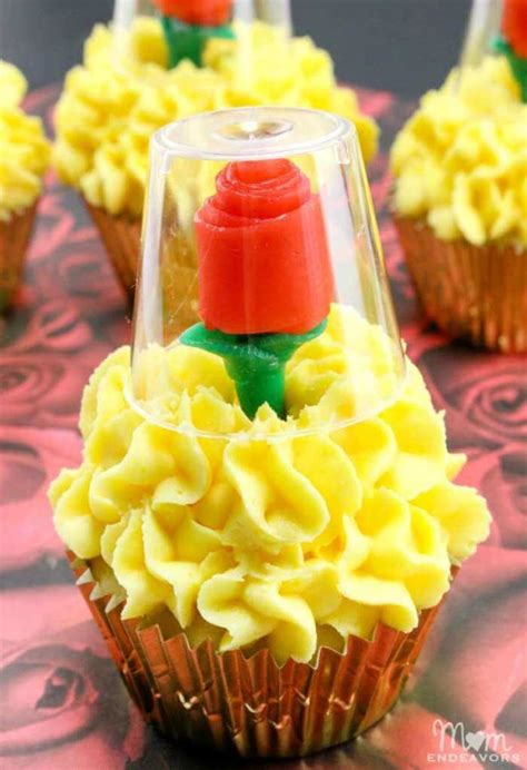 rose beauty and the beast cupcakes