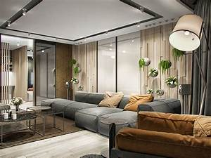 gray-suede-sofa | Interior Design Ideas.