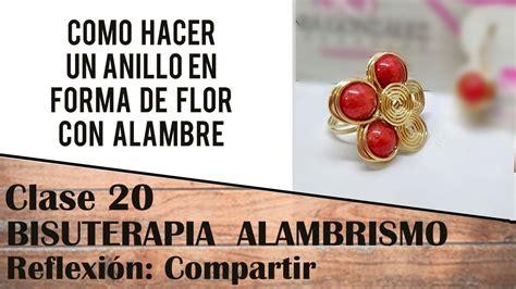 20 CLASE ANILLO CON ALAMBRE EN FORMA DE FLOR